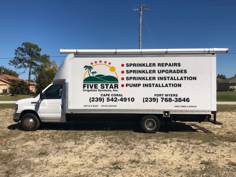 Five Star Irrigation Services Inc Cape Coral Fl truck